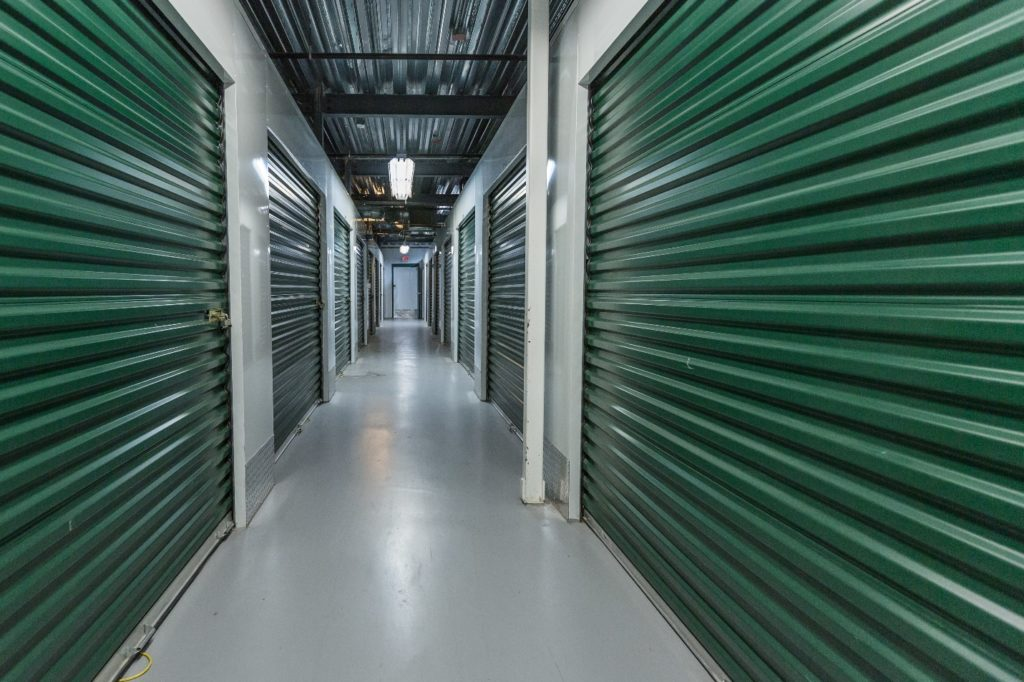 Corridor of a storage facility