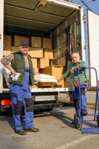 Movers with van