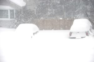 Cars in Blizzard