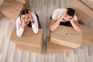 The couple stressed due to shifting