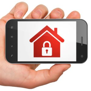 Red Locked home Icon in Smartphone