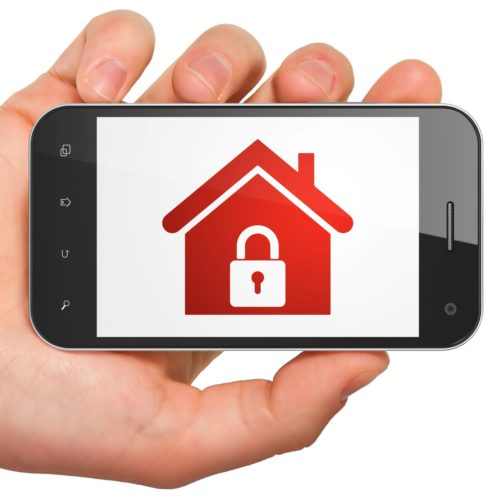 red home icon in smartphone