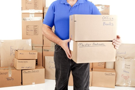 Labeled Boxes by Midway Moving and Storage