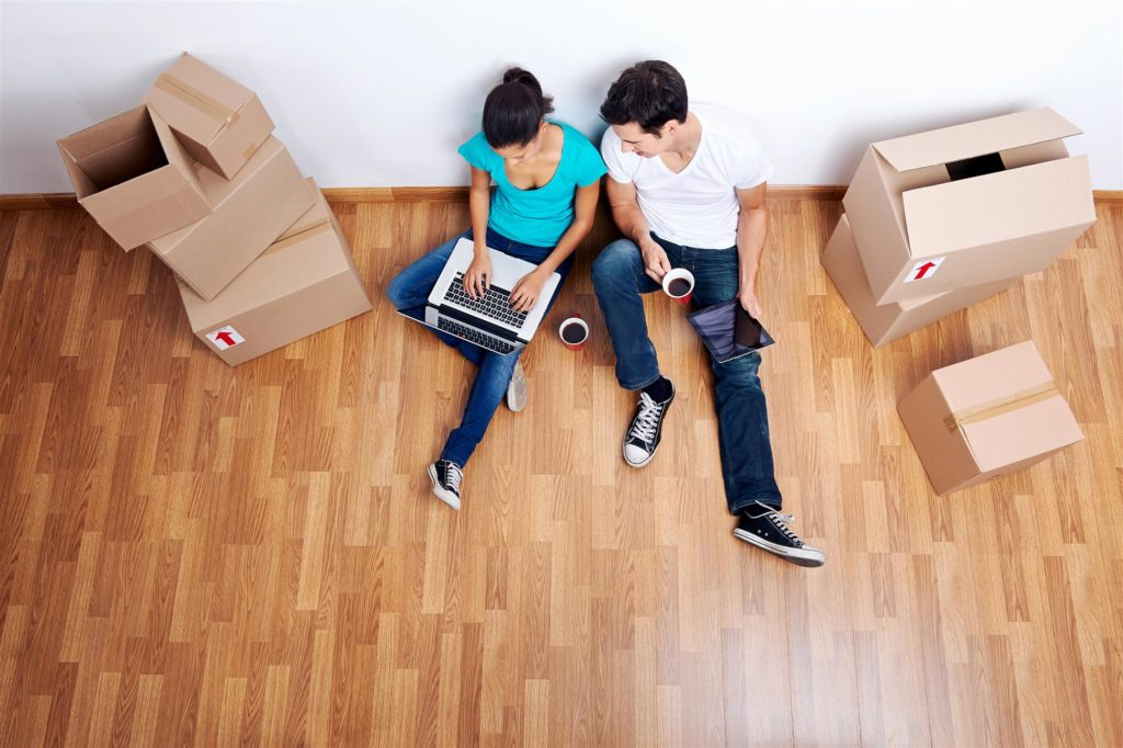 woman and man planning for shifting home